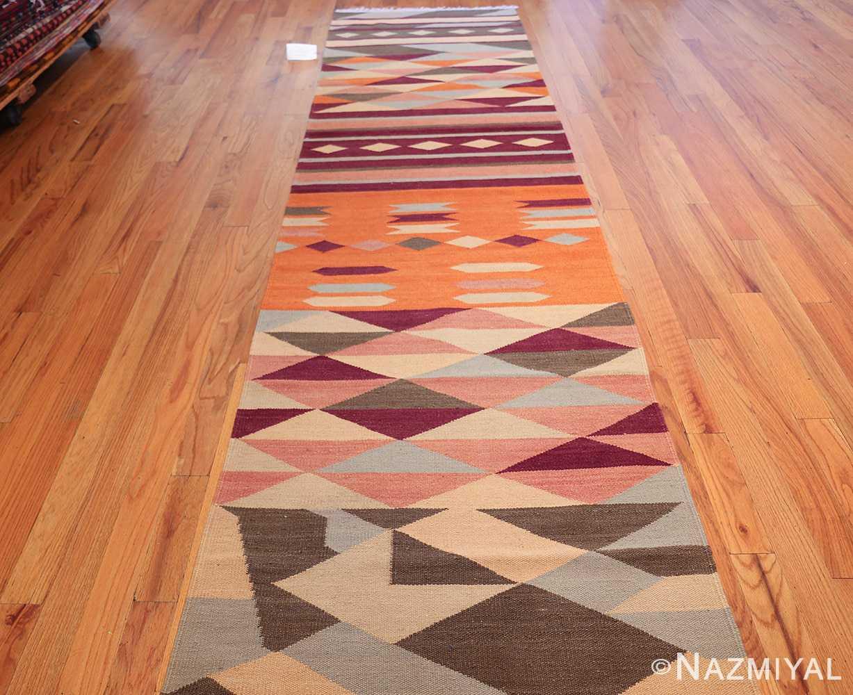 swedish scandinavian inspired modern kilim runner rug 48475 whole Nazmiyal