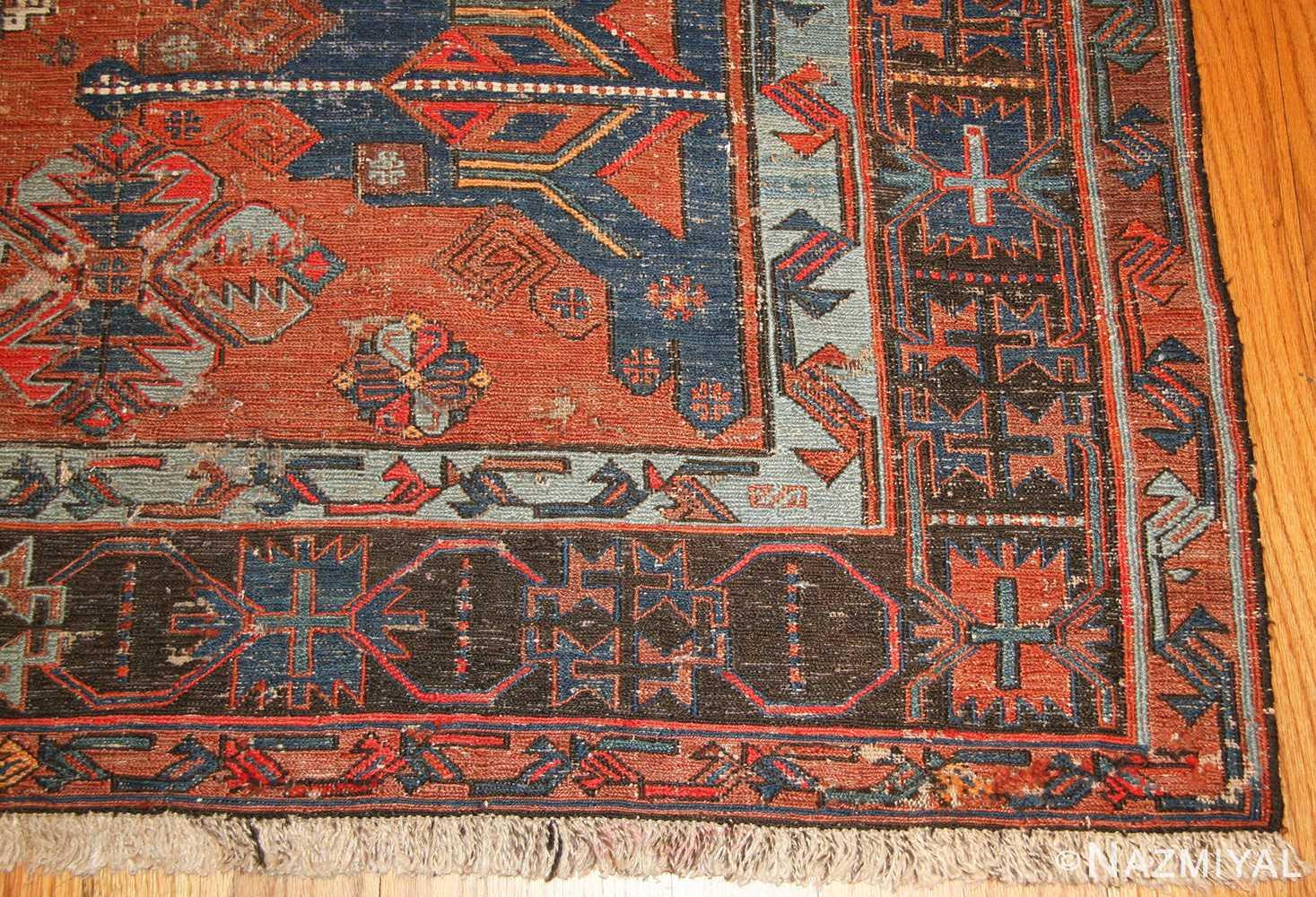 tribal antique caucasian soumak rug 50210 corner Nazmiyal