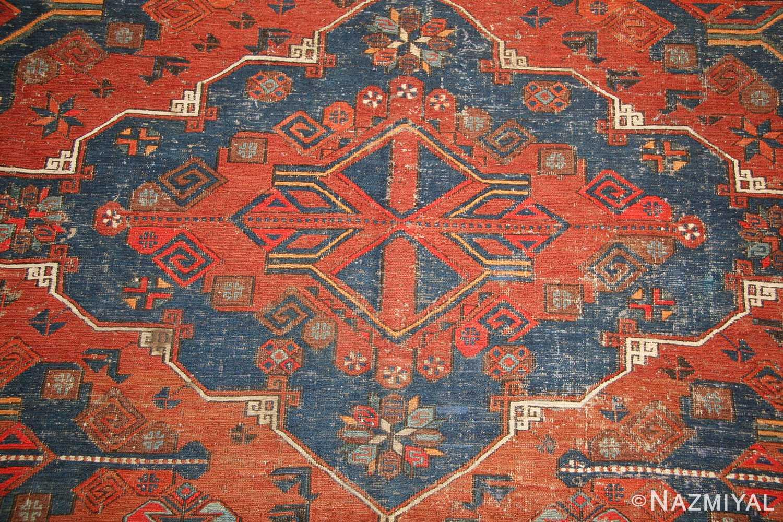 tribal antique caucasian soumak rug 50210 medallion Nazmiyal