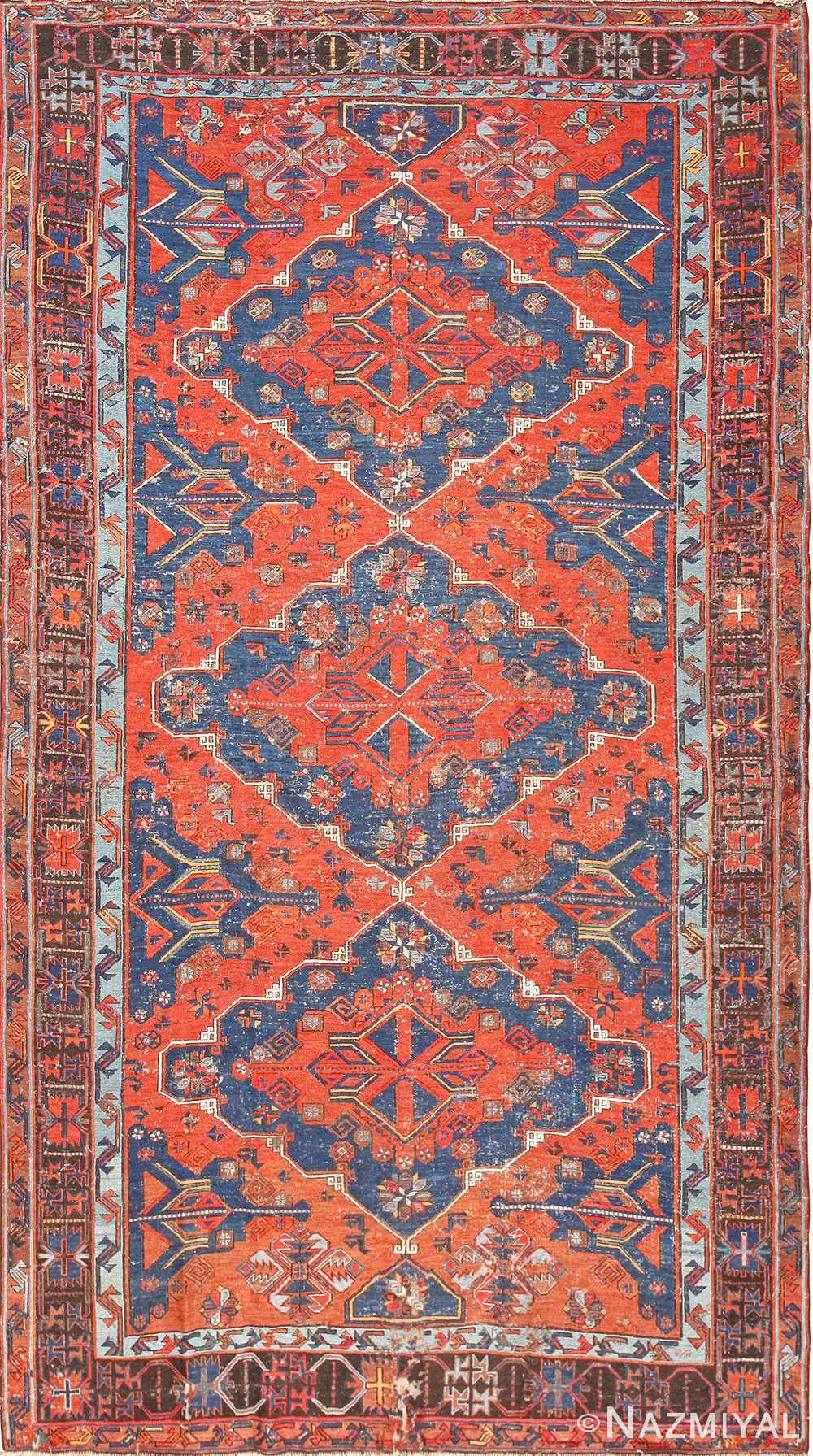 tribal antique caucasian soumak rug 50210 Nazmiyal