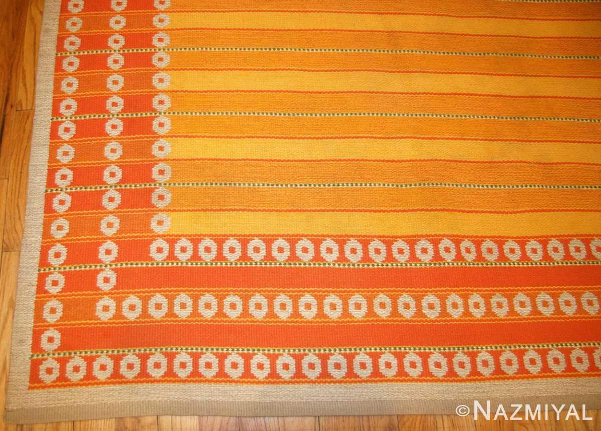 vintage double sided swedish kilim rug by ingrid dessau 49115 corner Nazmiyal