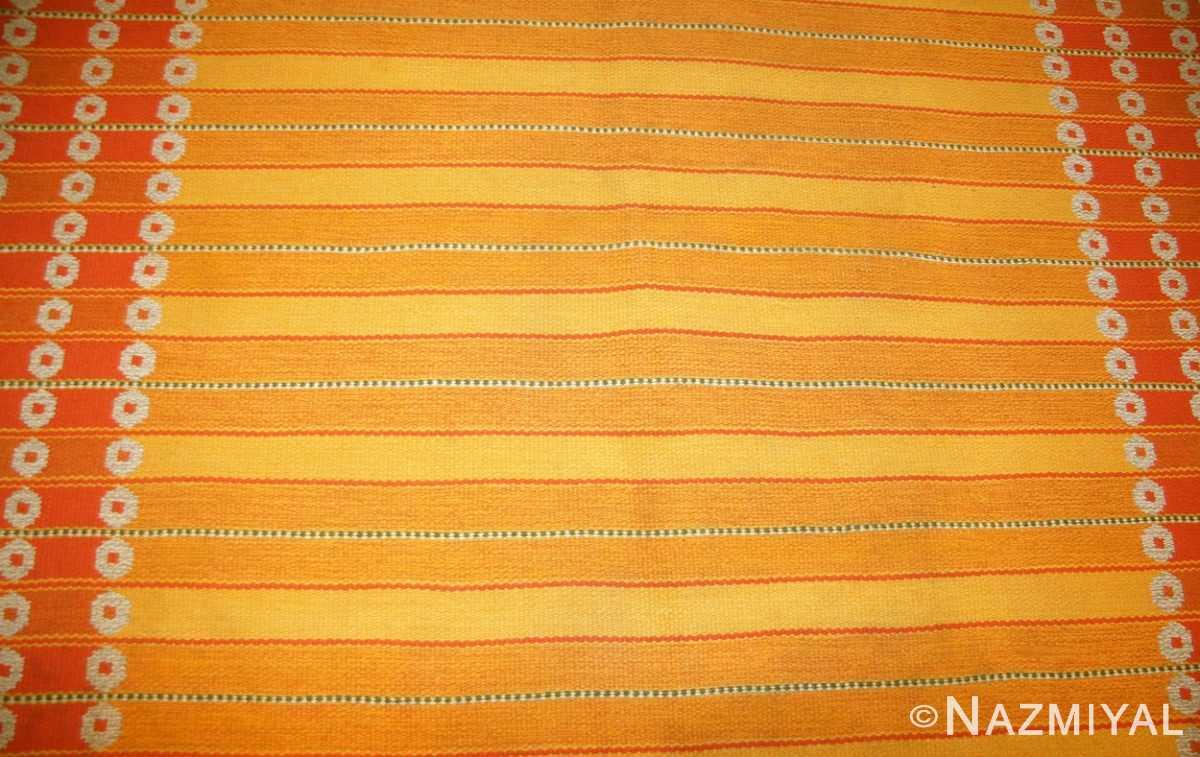 vintage double sided swedish kilim rug by ingrid dessau 49115 front Nazmiyal