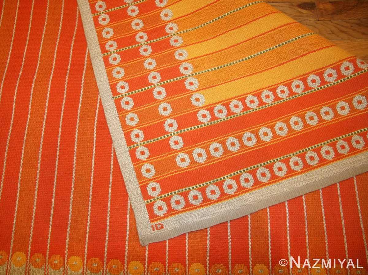 vintage double sided swedish kilim rug by ingrid dessau 49115 signature Nazmiyal