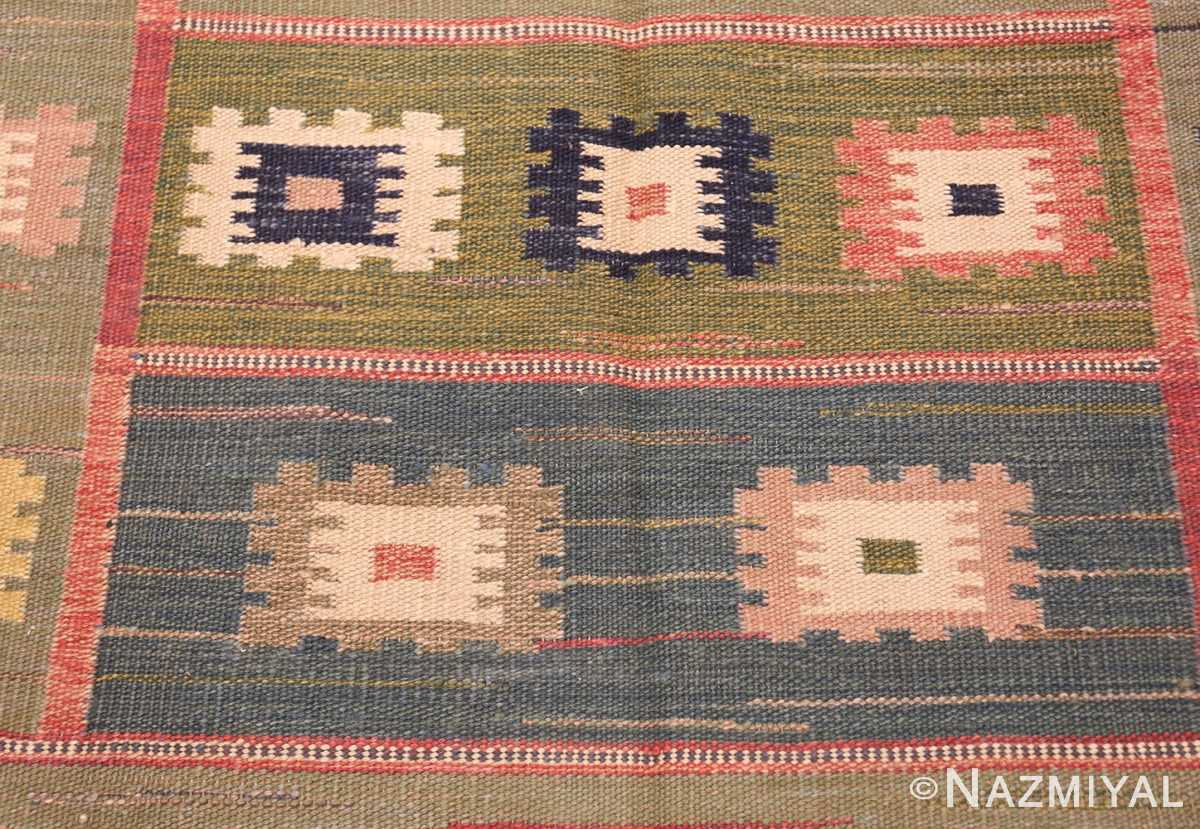 vintage inspired swedish scandinavian inspired kilim rug 48516 center Nazmiyal