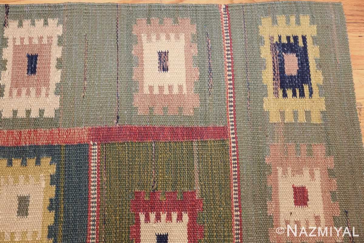 vintage inspired swedish scandinavian inspired kilim rug 48516 corner Nazmiyal