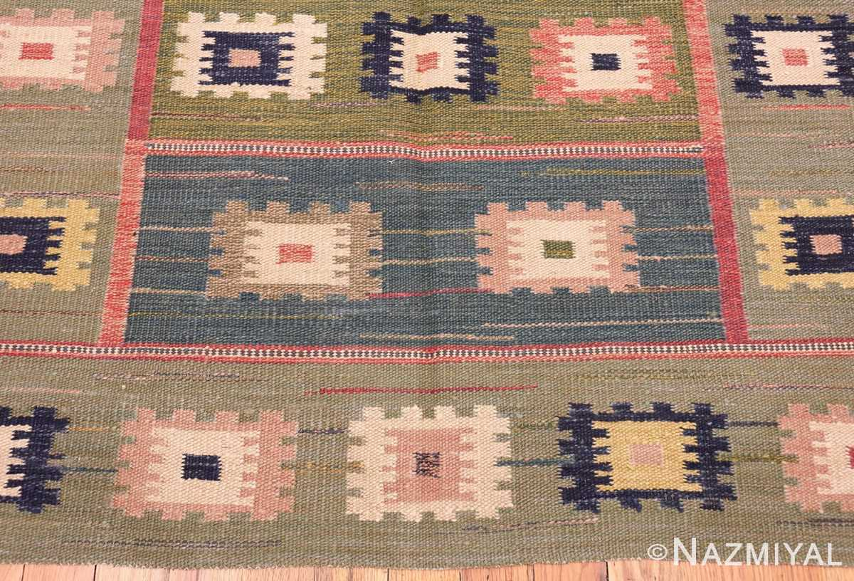 vintage inspired swedish scandinavian inspired kilim rug 48516 top Nazmiyal