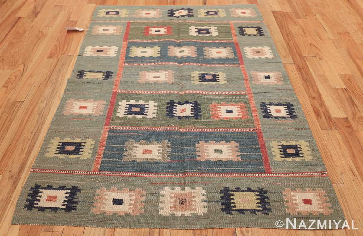 vintage inspired swedish scandinavian inspired kilim rug 48516 whole Nazmiyal