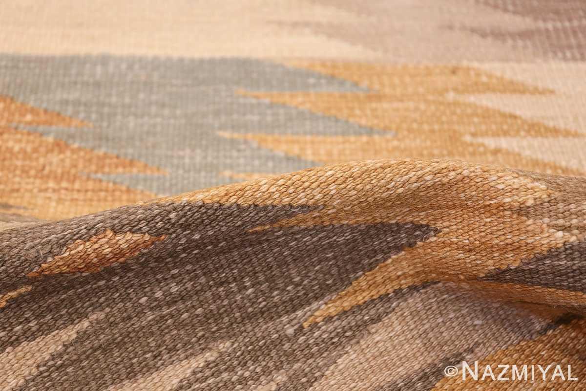 Vintage Scandinavian Inspired Indian Kilim Runner 48517 Geometric Pile Nazmiyal