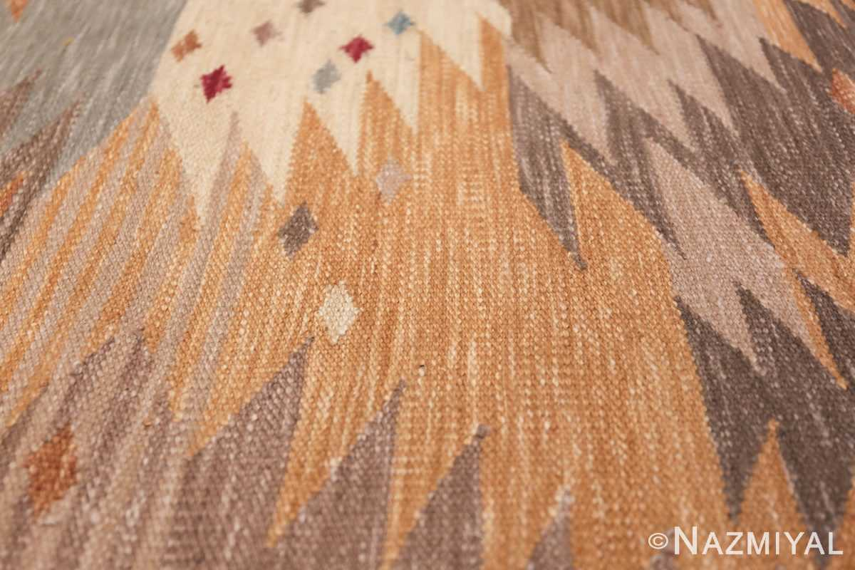 Vintage Scandinavian Inspired Indian Kilim Runner 48517 Jagged Lines Nazmiyal