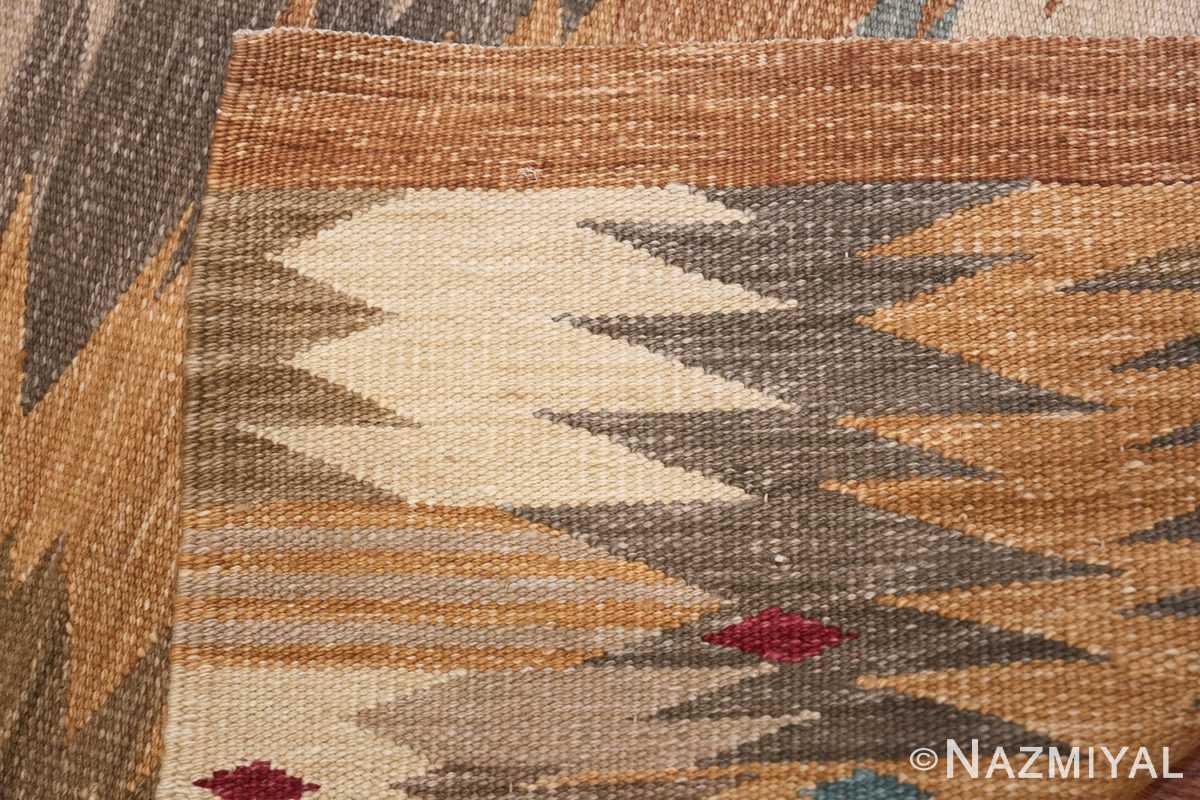 Vintage Scandinavian Inspired Indian Kilim Runner 48517 Woven Knots Nazmiyal