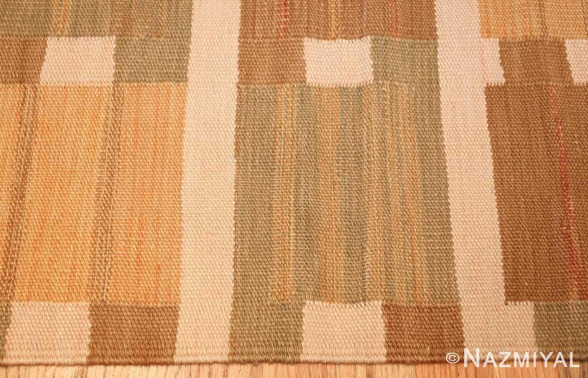 vintage scandinavian inspired modern kilim carpet 48383 border Nazmiyal