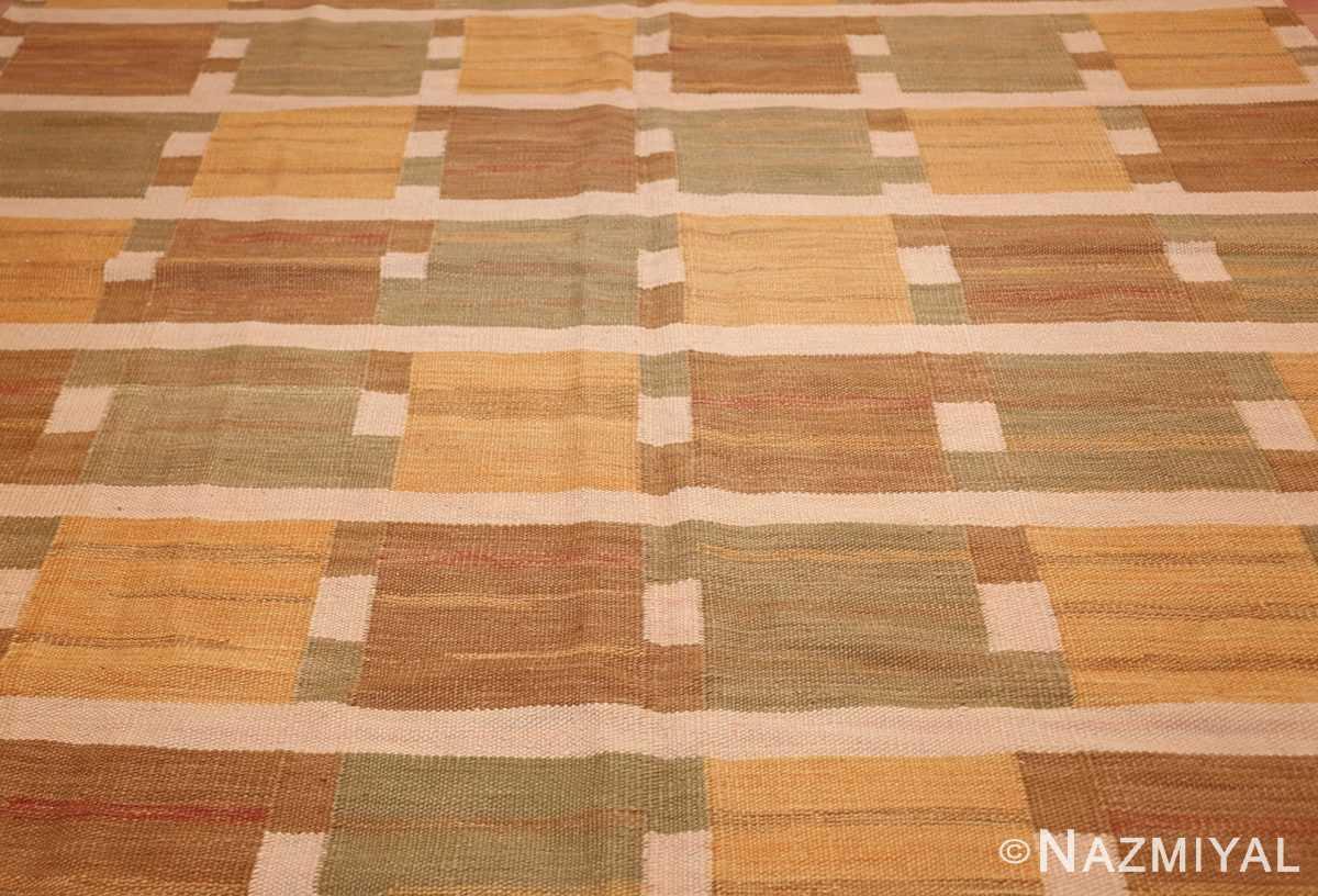 vintage scandinavian inspired modern kilim carpet 48383 field Nazmiyal