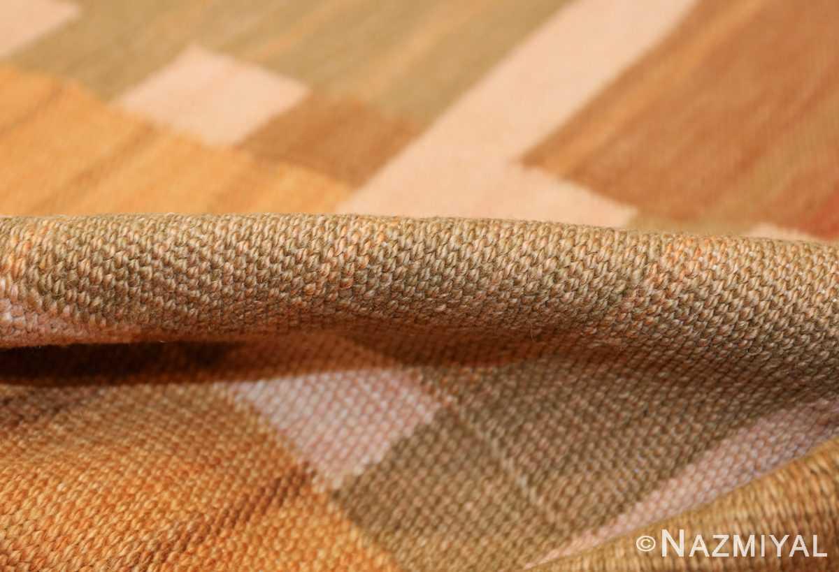 vintage scandinavian inspired modern kilim carpet 48383 pile Nazmiyal