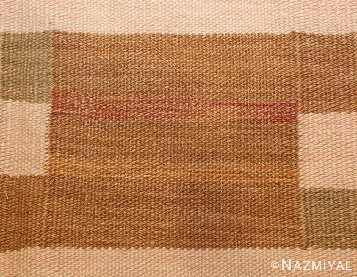 vintage scandinavian inspired modern kilim carpet 48383 red Nazmiyal