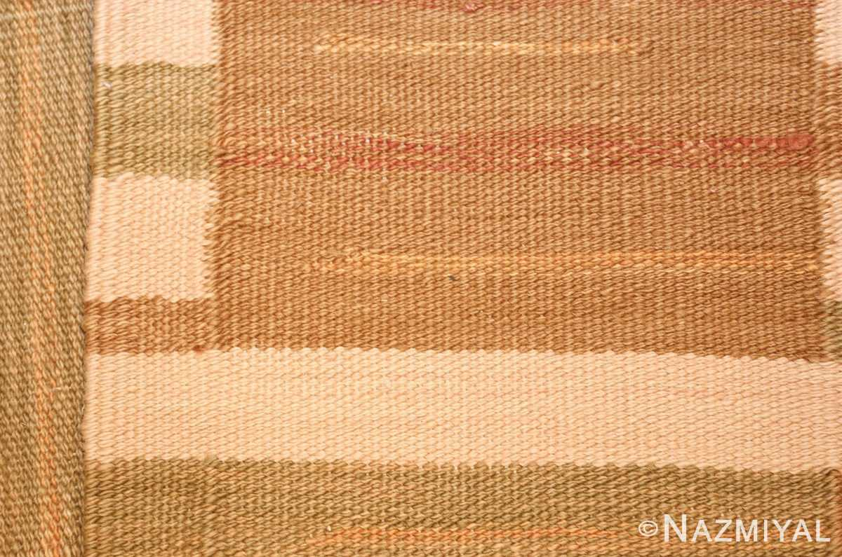 vintage scandinavian inspired modern kilim carpet 48383 weave Nazmiyal