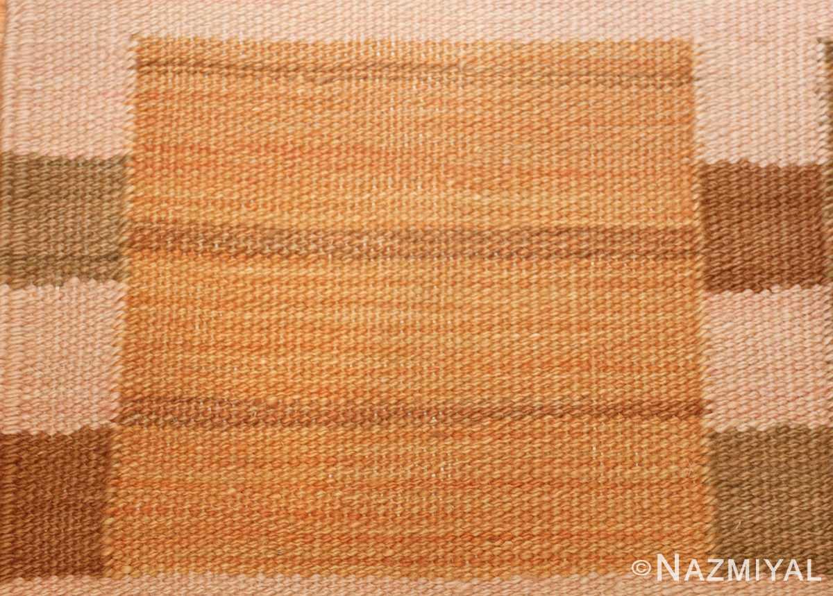 vintage scandinavian inspired modern kilim carpet 48383 yellow Nazmiyal