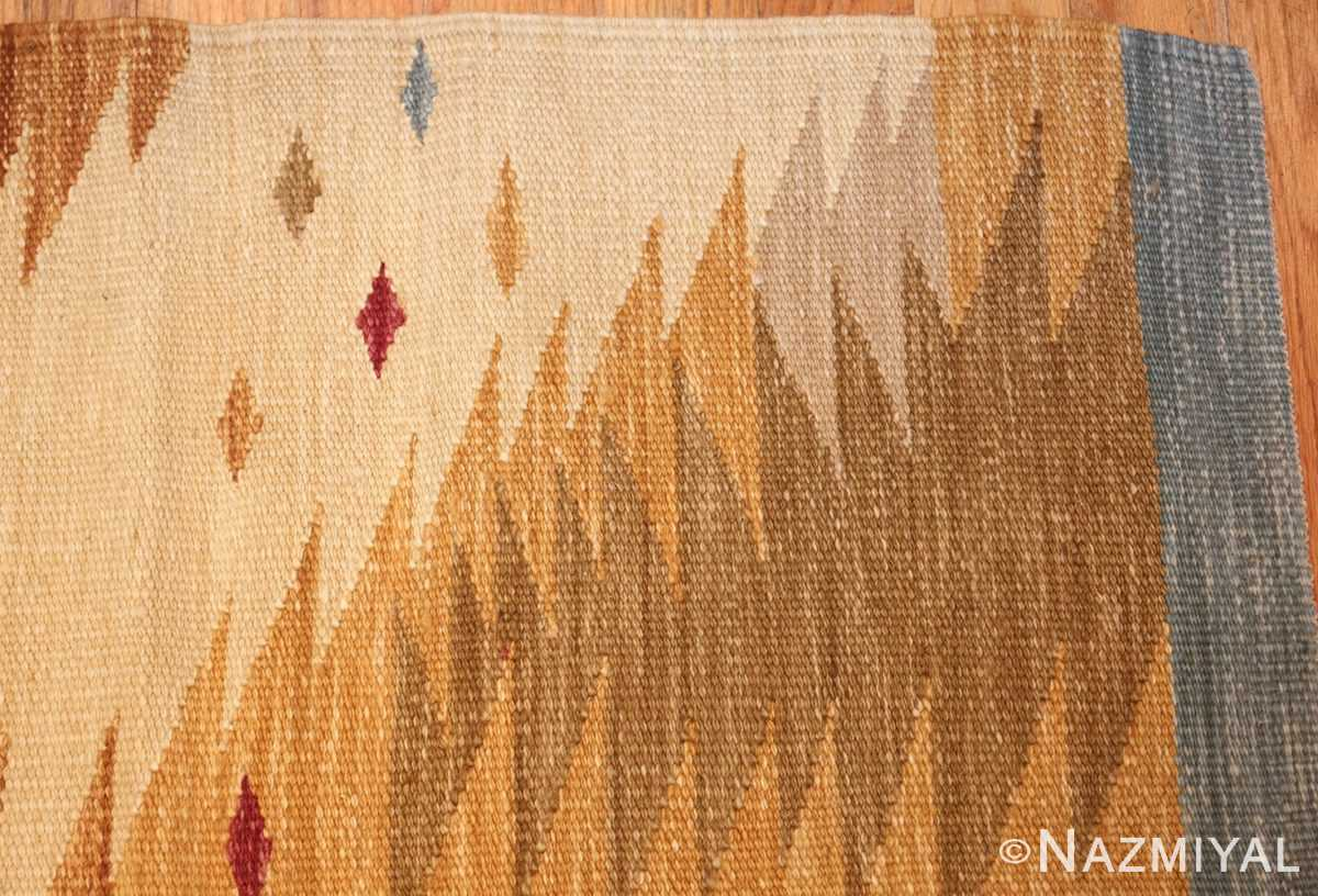 vintage swedish inspired kilim runner rug 48518 corner Nazmiyal