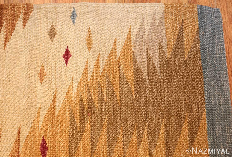 vintage swedish inspired kilim runner rug 48518 corner Nazmiyal