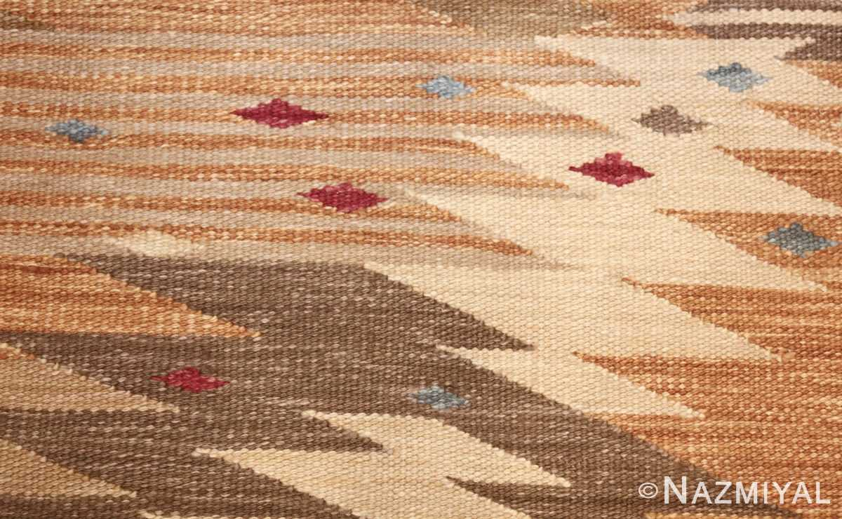 vintage swedish inspired kilim runner rug 48518 dots Nazmiyal