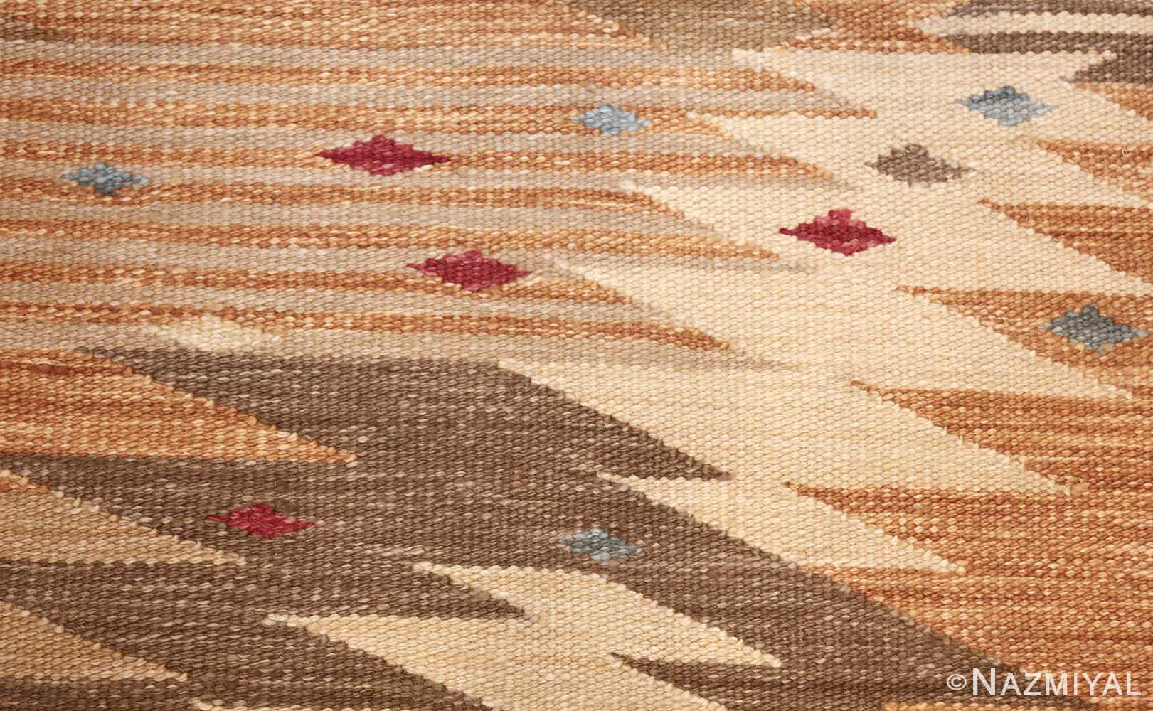 vintage swedish inspired kilim runner rug 48518 dots Nazmiyal