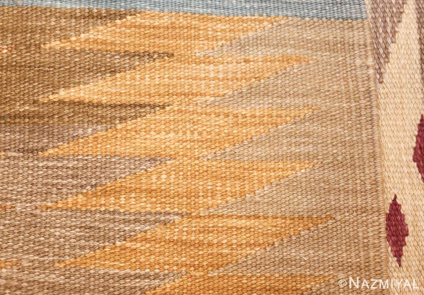 vintage swedish inspired kilim runner rug 48518 weave Nazmiyal