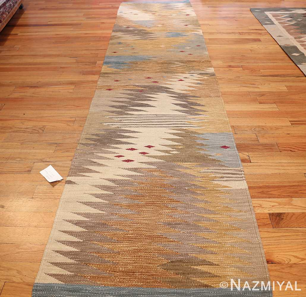 vintage swedish inspired kilim runner rug 48518 whole Nazmiyal