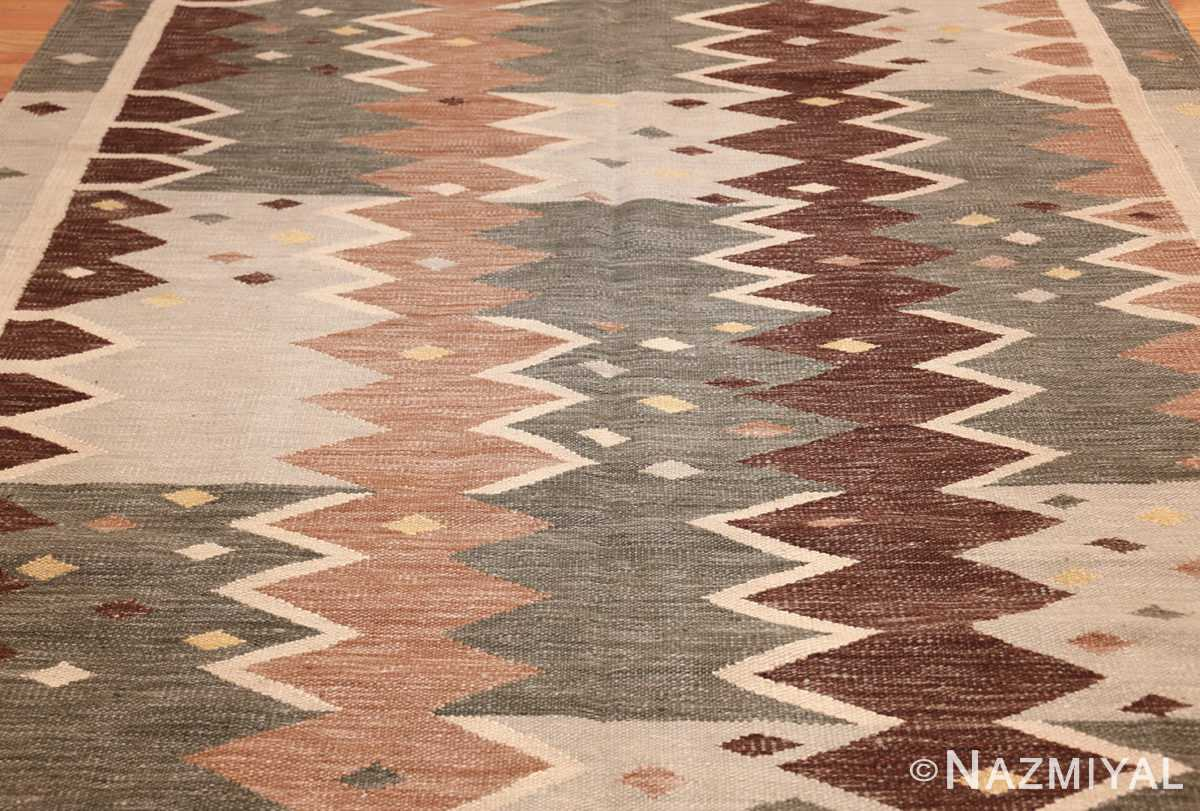 vintage swedish inspired modern kilim rug 48519 field Nazmiyal