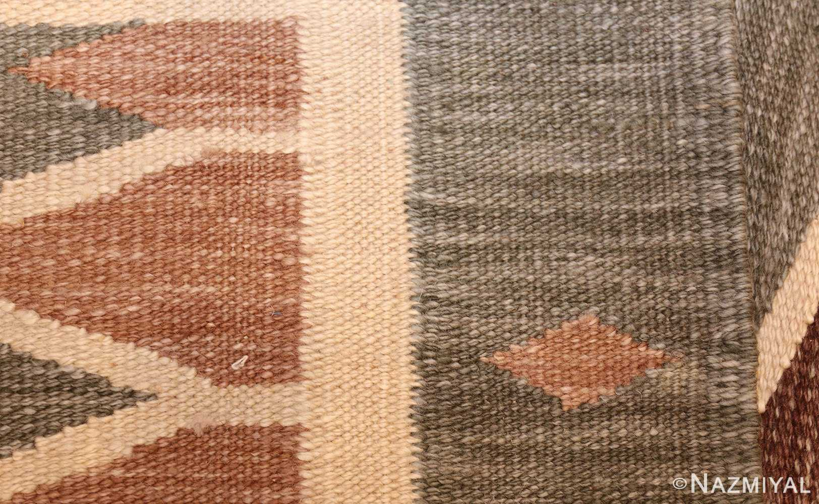vintage swedish inspired modern kilim rug 48519 weave Nazmiyal