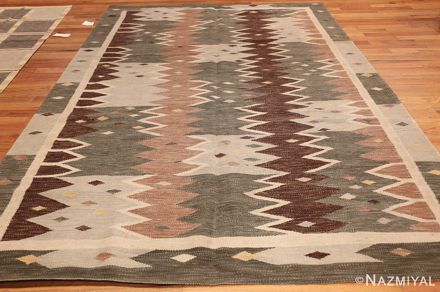 vintage swedish inspired modern kilim rug 48519 whole Nazmiyal