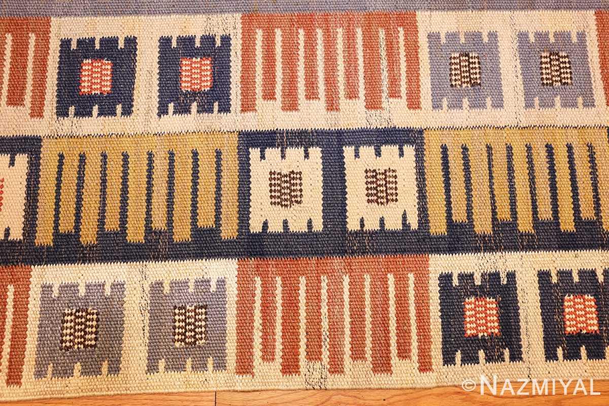 vintage swedish mmf kilim 49198 border Nazmiyal