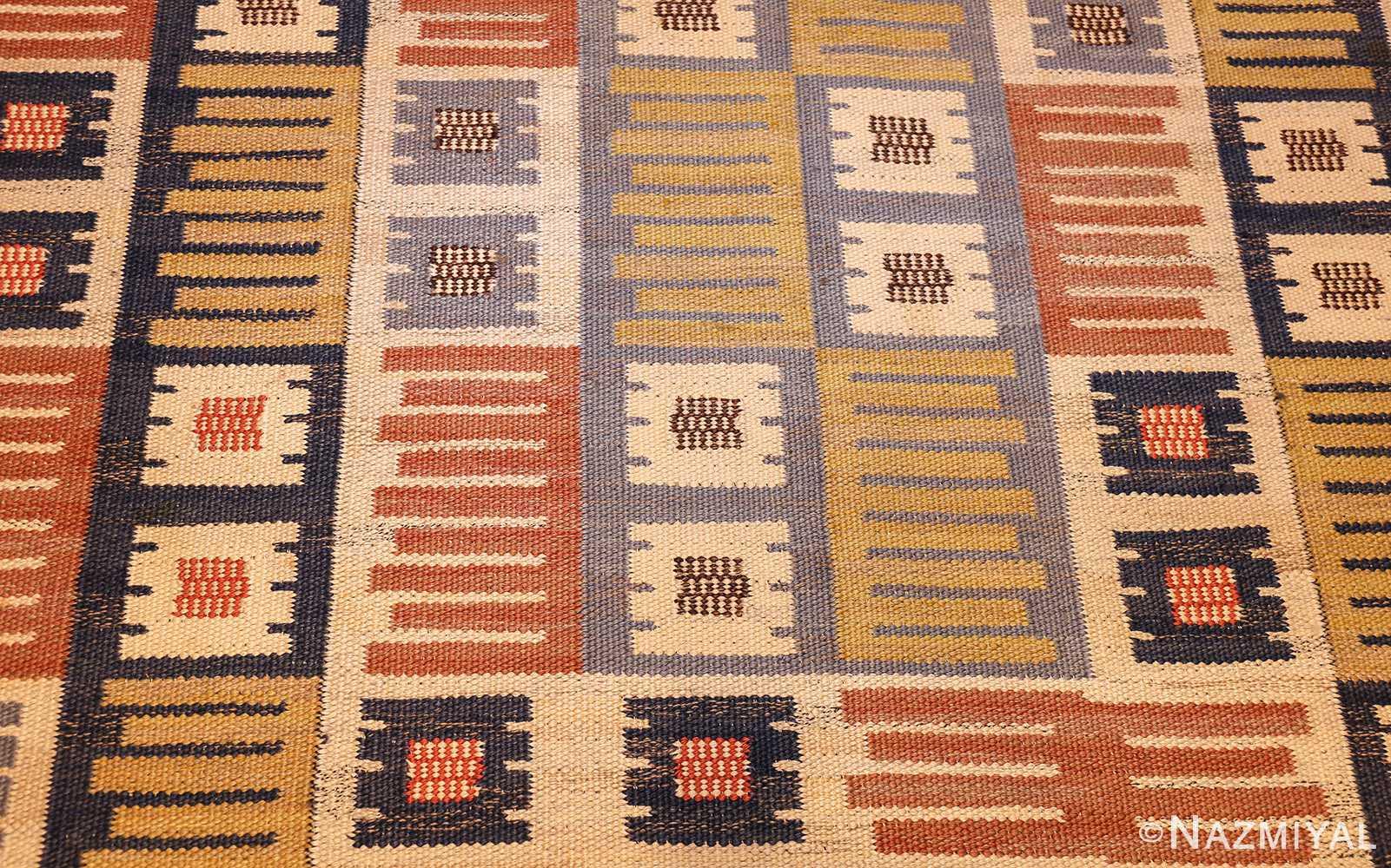 vintage swedish mmf kilim 49198 field Nazmiyal