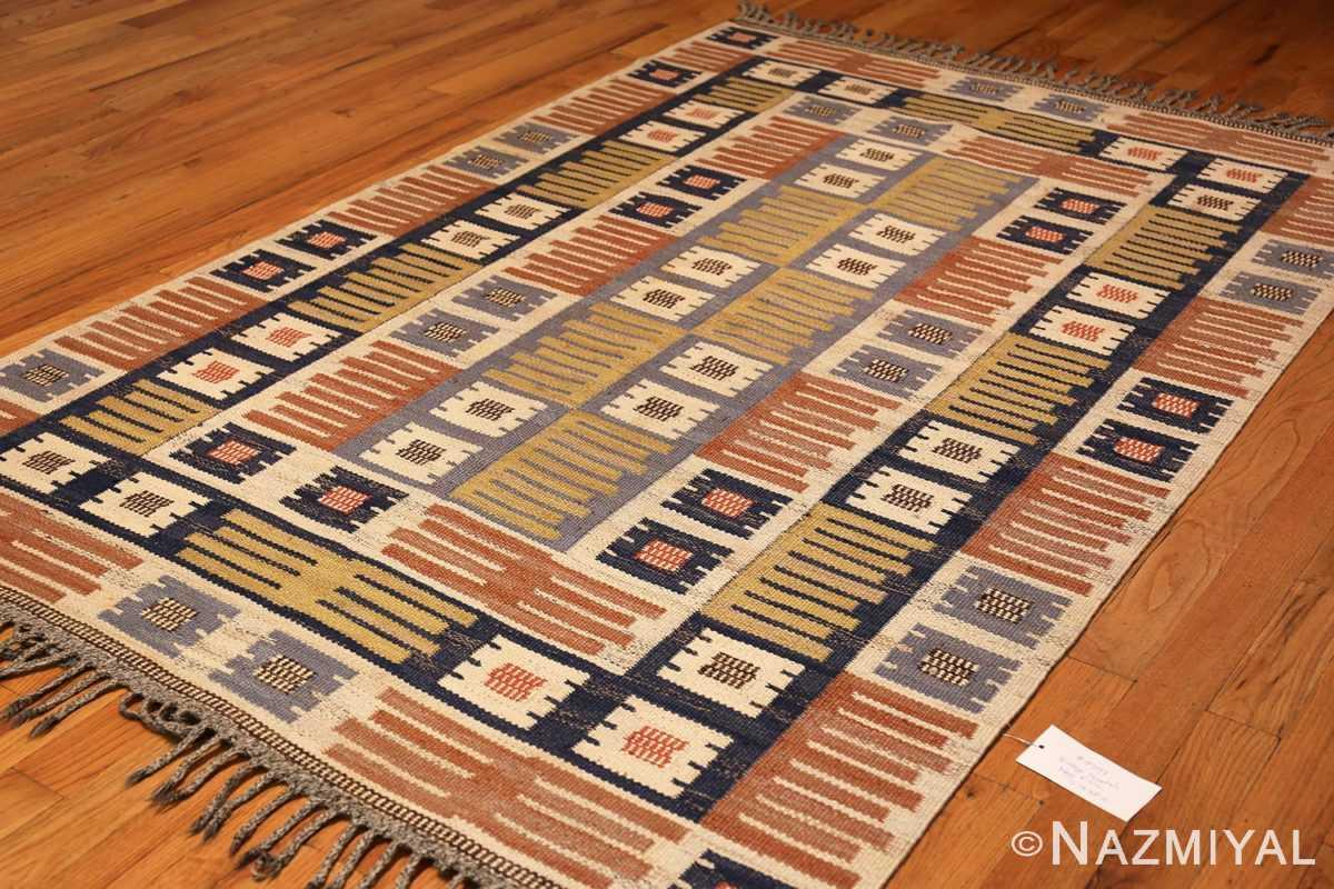 vintage swedish mmf kilim 49198 top Nazmiyal