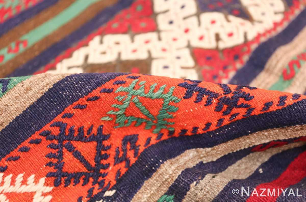 Vintage Tribal Turkish Kilim 50730 Colorful Pile Nazmiyal