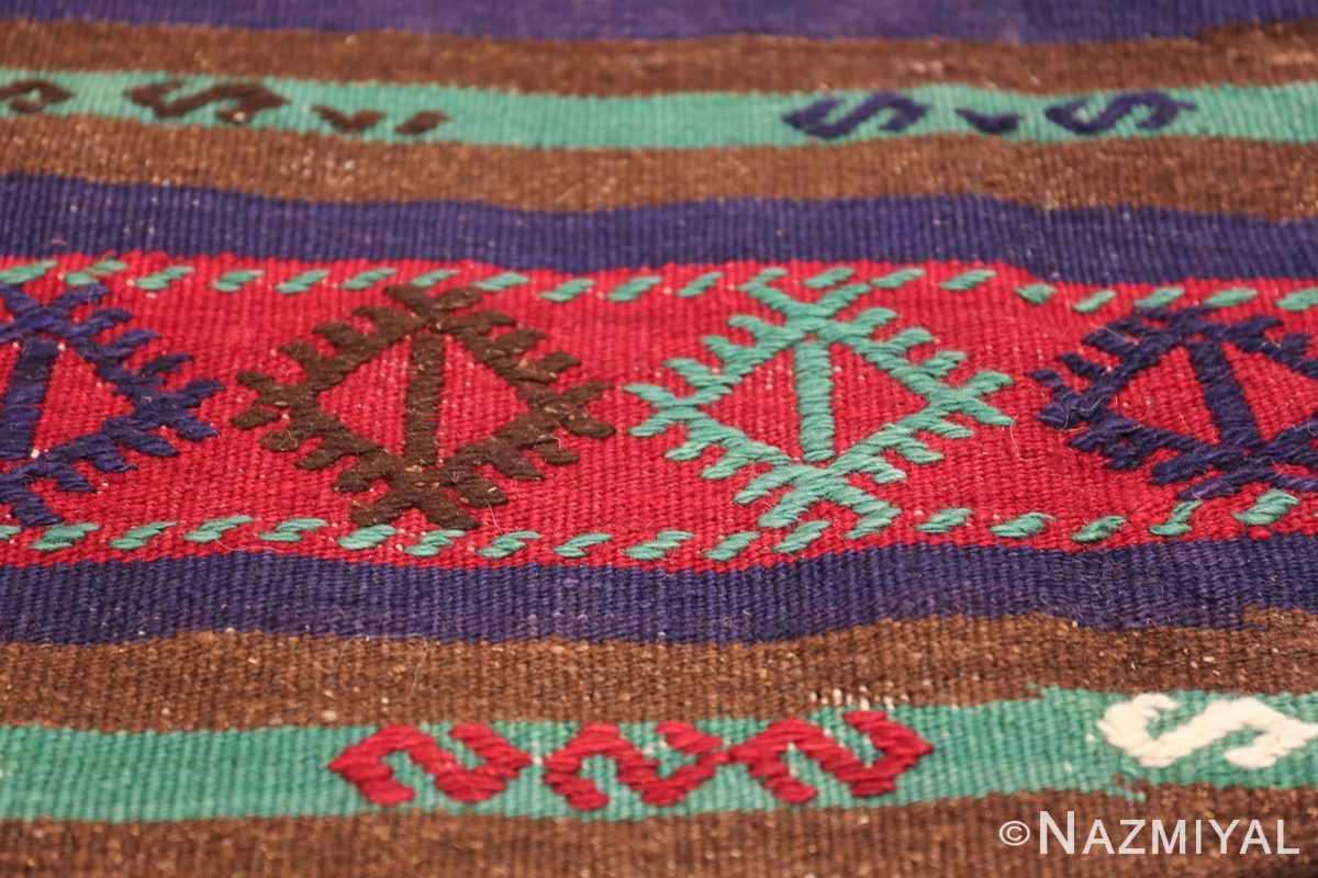 Vintage Tribal Turkish Kilim 50730 Eye Design Nazmiyal