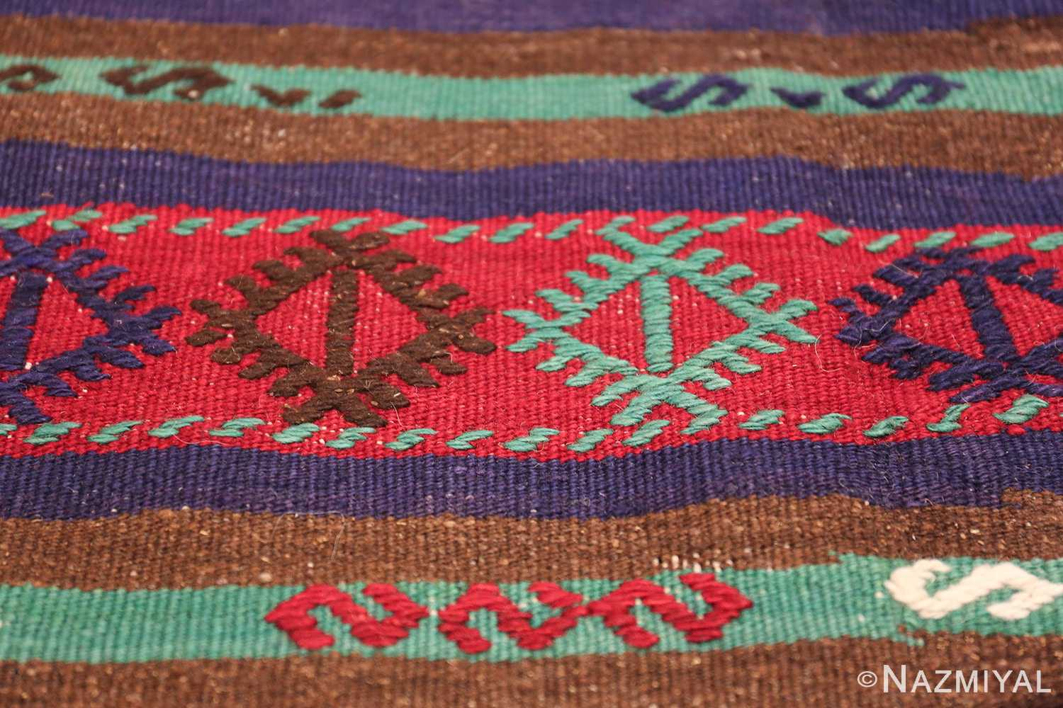 Vintage Tribal Turkish Kilim 50730 Eye Design Nazmiyal