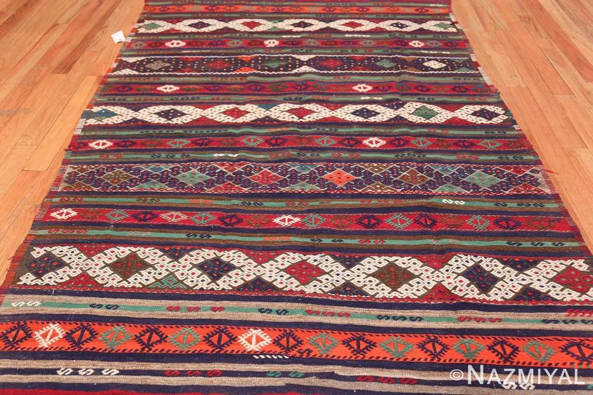Vintage Tribal Turkish Kilim 50730 Field Pattern Nazmiyal