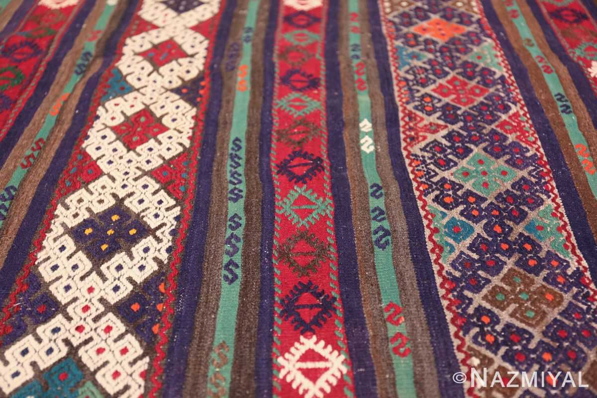 Vintage Tribal Turkish Kilim 50730 Horizontal Lines Nazmiyal