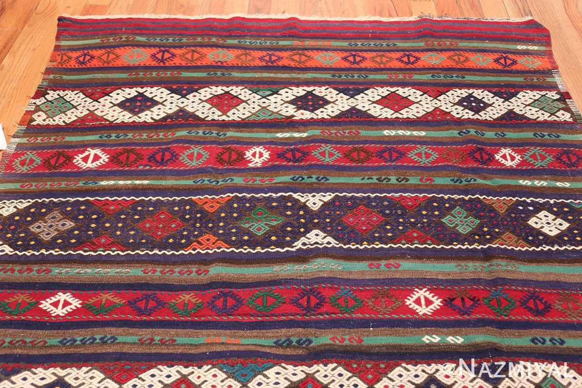 Vintage Tribal Turkish Kilim 50730 Top Design Nazmiyal