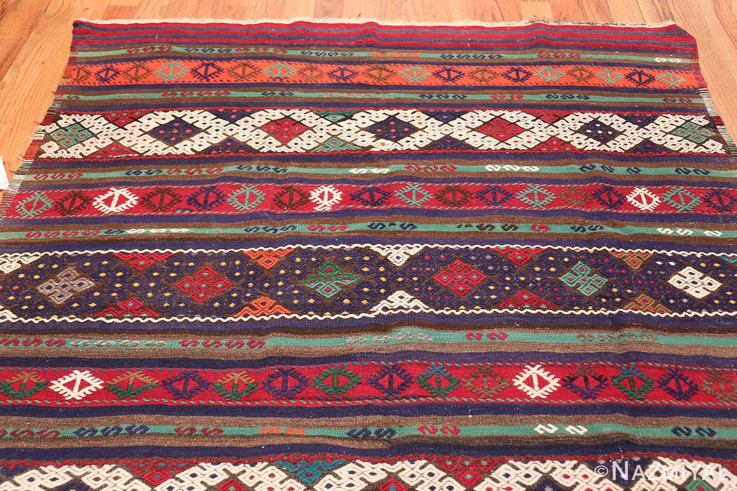 Vintage Tribal Turkish Kilim 50730 Top Design Nazmiyal