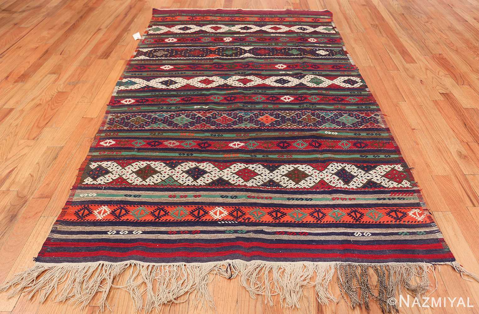Vintage Tribal Turkish Kilim 50730 Whole Design Nazmiyal
