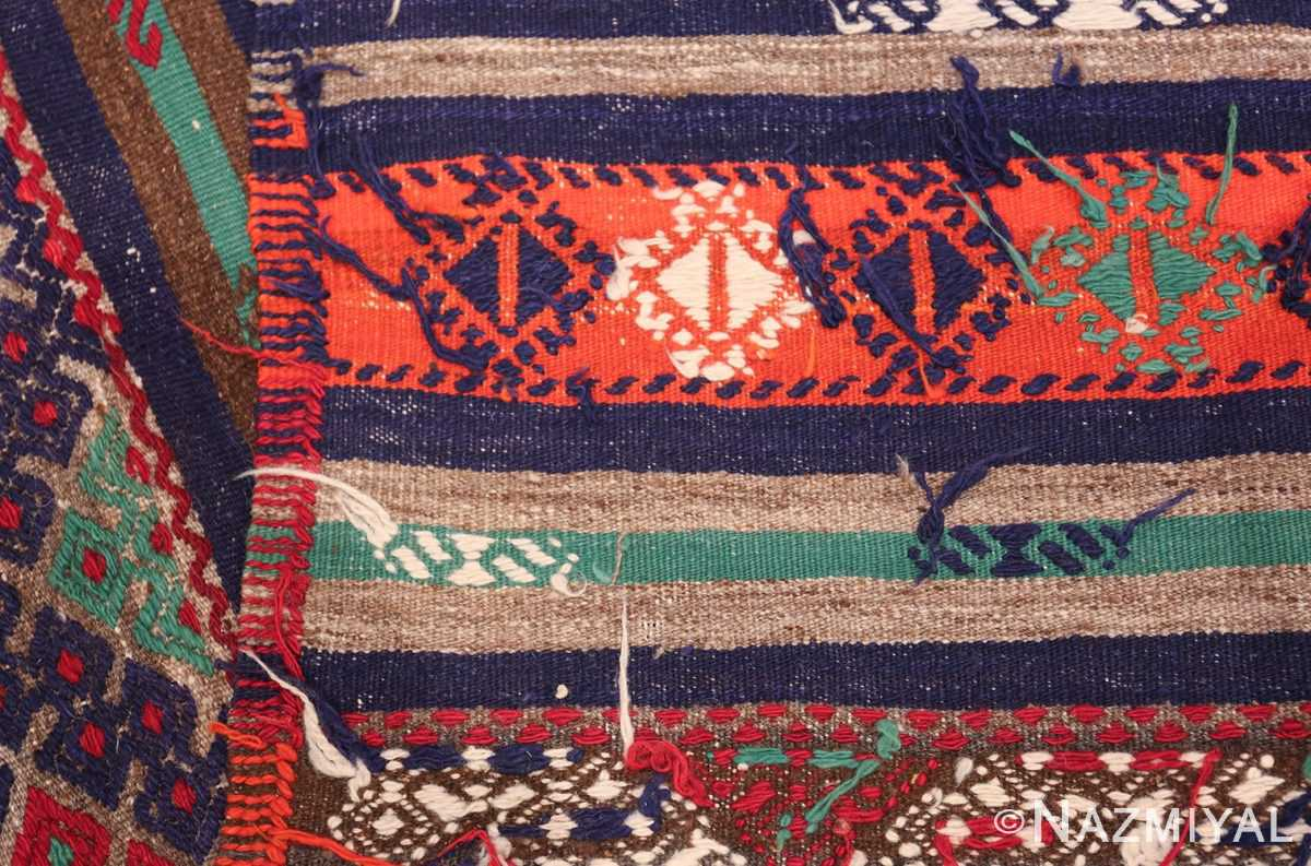 Vintage Tribal Turkish Kilim 50730 Woven Knots Nazmiyal