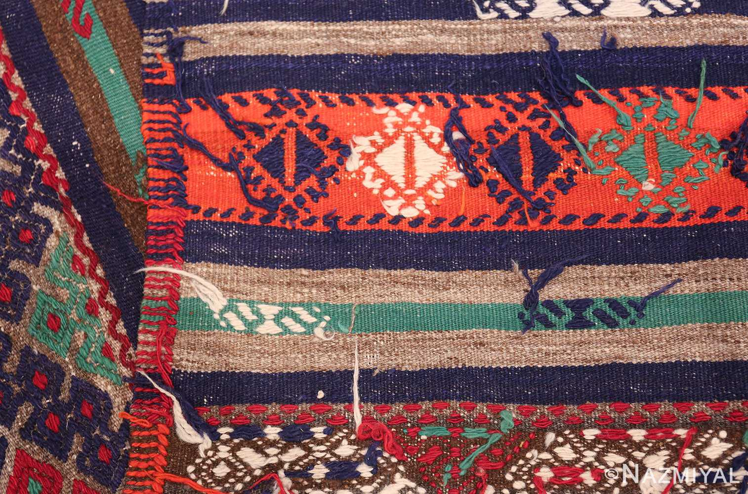 Vintage Tribal Turkish Kilim 50730 Woven Knots Nazmiyal