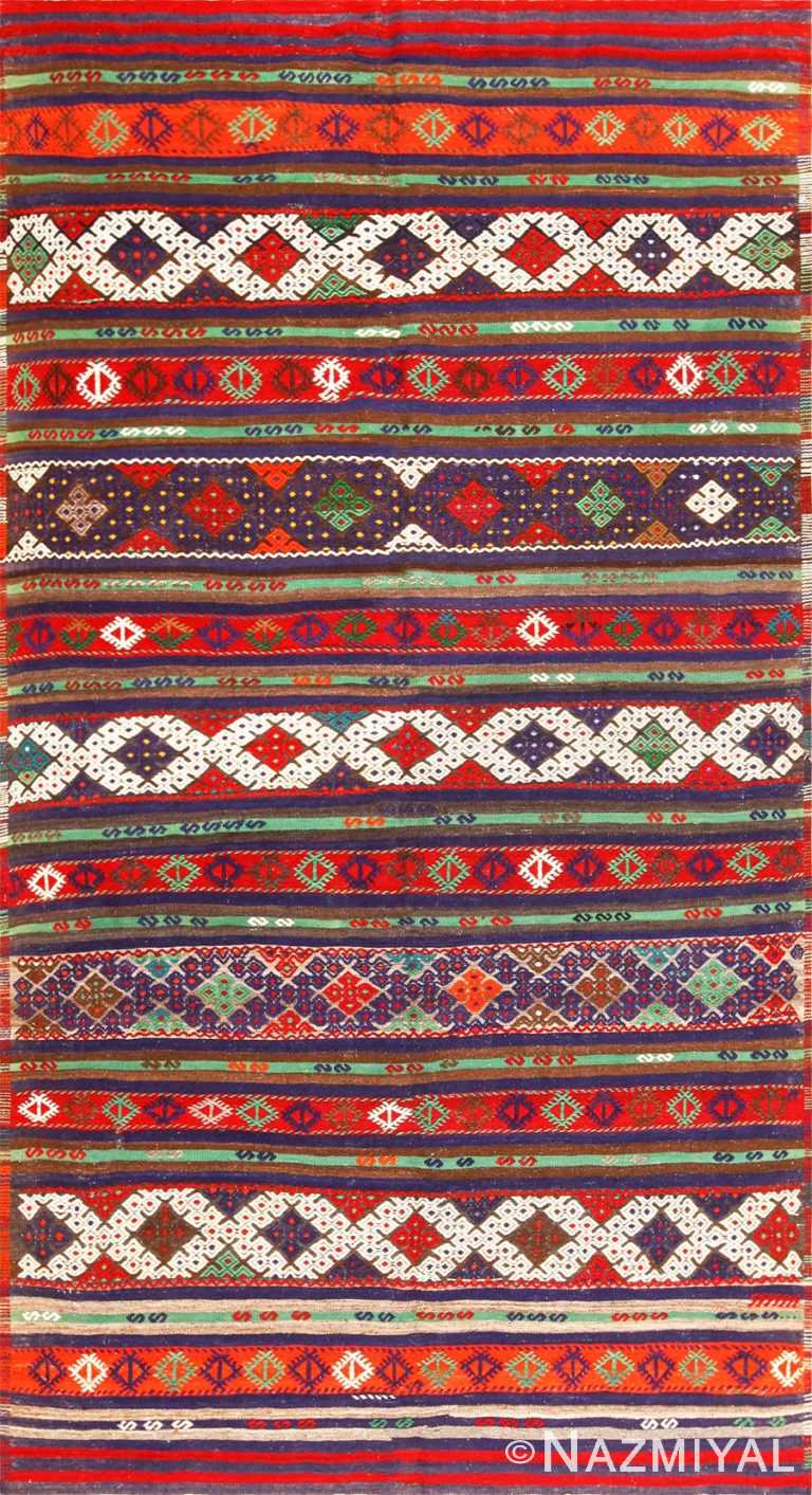vintage turkish kilim 50730 Nazmiyal
