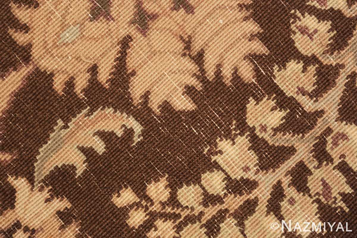 Weave detail French design modern Chinese Savonnerie rug 44697 by Nazmiyal