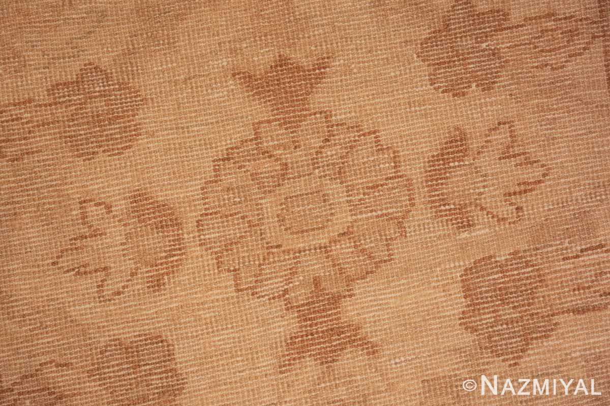 Weave detail Modern Persian Sultanabad runner rug 46550 by Nazmiyal