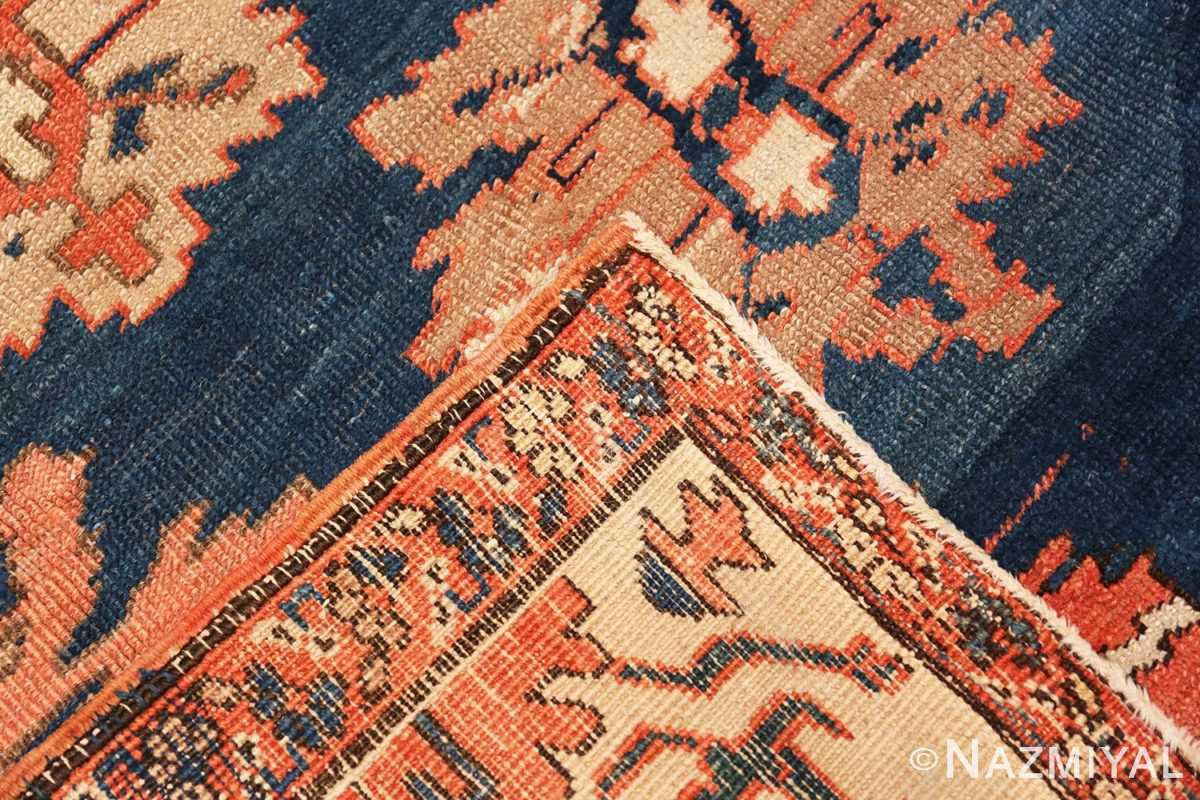 Weave Tribal Antique Blue Background Persian Bakshaish rug 49202 by Nazmiyal