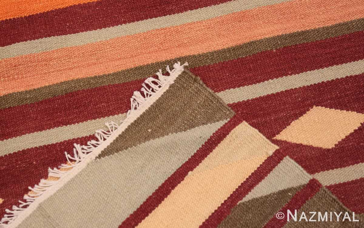 Weave Vintage Swedish inspired Modern Indian Kilim runner 48476 by Nazmiyal