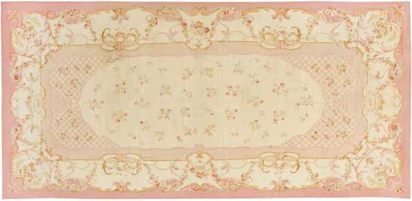 French Aubusson Antique Carpet, Nazmiyal
