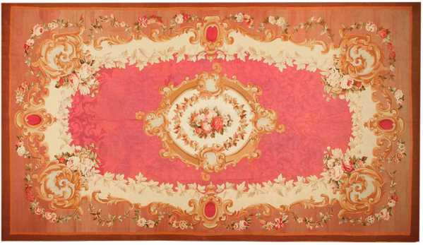 Versailles Rugs - Aubusson Antique Rug, French, Nazmiyal