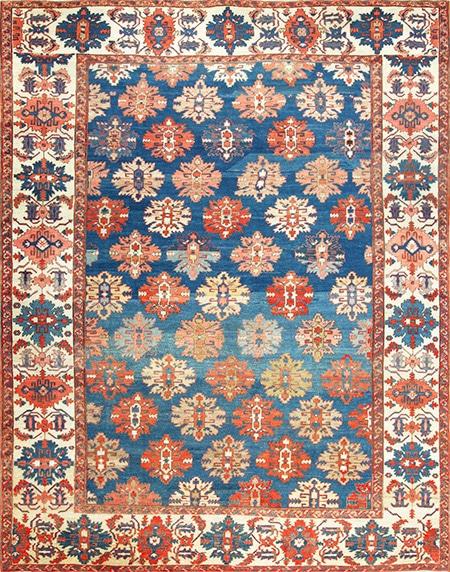 Antique Bakshaish Persian Dining Room Rug by Nazmiyal